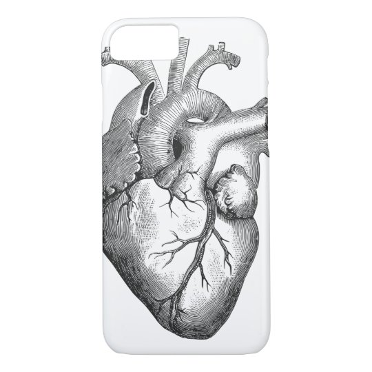Retro Vintage Cool Anatomical Heart Sketch iPhone 8/7