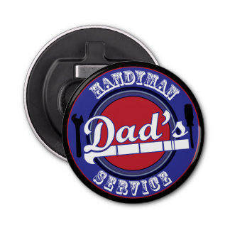 Retro Vintage Dad's Handyman Service Bottle Opener
