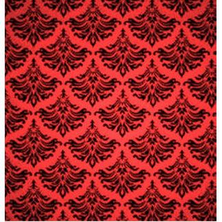 Retro Vintage Damask Flourish Red Standing Photo Sculpture