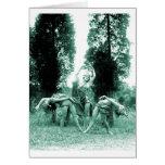 Retro Vintage Dancing Women Wild Women Greeting Card