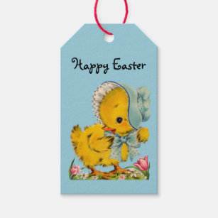 Retro/Vintage Easter Chick Gift Tags