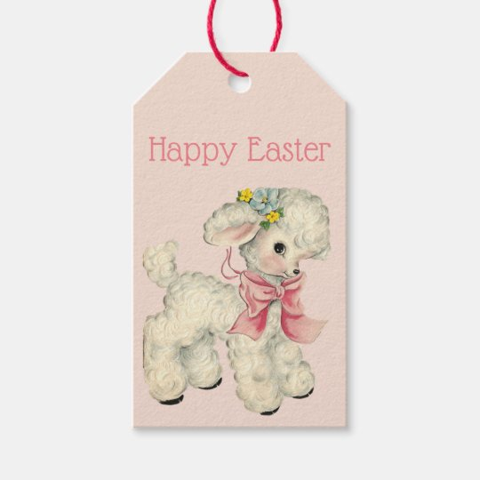 Retro/Vintage Easter Lamb Gift Tags