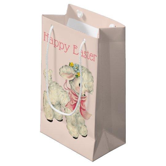 Retro/Vintage Easter Lamb Small Gift Bag