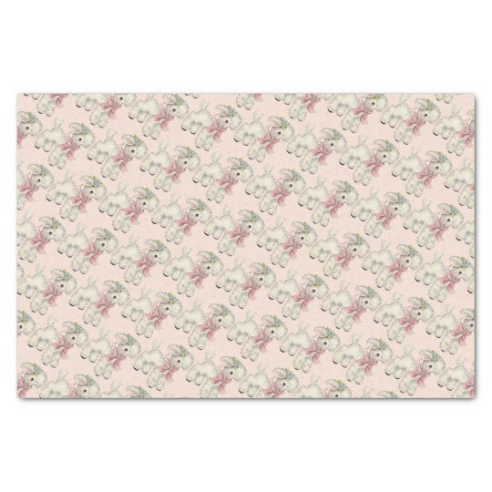 Retro/Vintage Easter/New Baby Lamb Tissue Paper