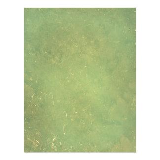 Retro Vintage Elegant Green Solid Color Pattern Flyers