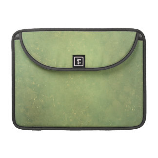 Retro Vintage Elegant Green Solid Color Pattern Sleeves For MacBook Pro