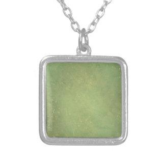 Retro Vintage Elegant Green Solid Color Pattern Custom Necklace