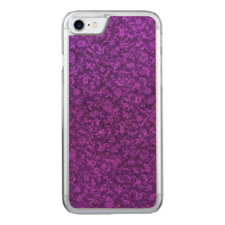 Retro Vintage Floral Amethyst Purple Grape Flowers Carved iPhone 8/7 Case