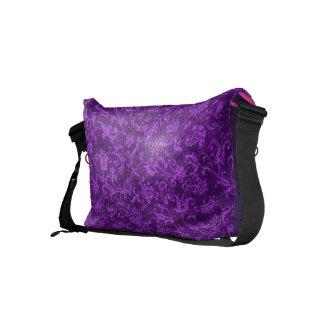 Retro Vintage Floral Amethyst Purple Grape Flowers Courier Bag