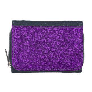 Retro Vintage Floral Amethyst Purple Grape Wallet