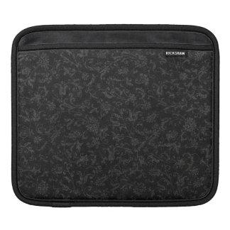 Retro Vintage Floral Black Sleeve Sleeve For iPads