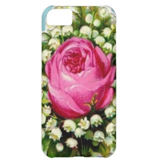 Retro Vintage Floral Bouquet Rose Lilies Cover For iPhone 5C