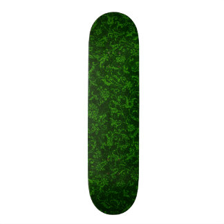 Retro Vintage Floral Emerald Green Flowers Skate Boards