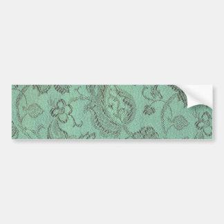 Retro Vintage Floral Sage Bumper Sticker