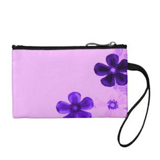 Retro Vintage Flowers Lavender Purple Amethyst Coin Wallet