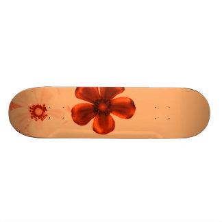 Retro Vintage Flowers Orange Skateboard