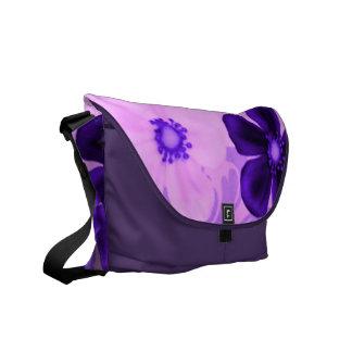 Retro Vintage Flowers Purple Messenger Bag