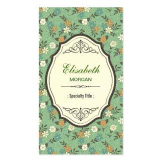 Retro Vintage Flowers with Elegant Vintage Frame Pack Of Standard Business Cards
