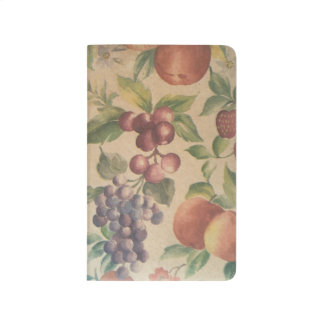 Retro Vintage Fruit Berries Notebook Journal