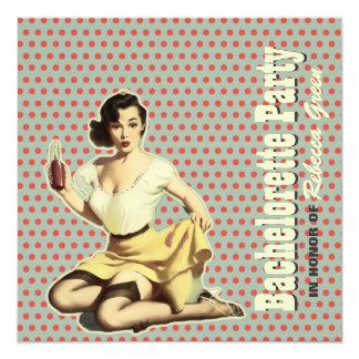 retro vintage fun bachelorette party invitation