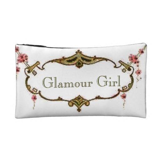 Retro Vintage Glamour Girl Cosmetic Bagettes Bag Makeup Bag