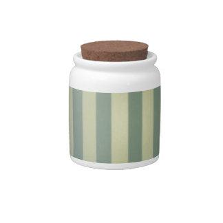 Retro Vintage Grey Cream Stripes Pattern Candy Jars