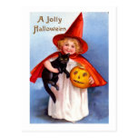 Retro Vintage Halloween Jolly Halloween Post Cards
