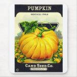 Retro Vintage Halloween pumpkin seed package Mouse Pad