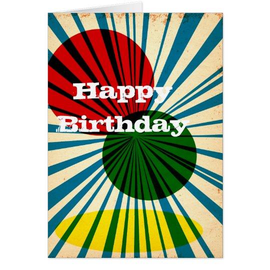 Retro Vintage Happy Birthday card
