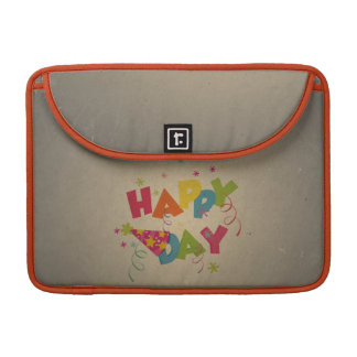 Retro Vintage Happy Birthday Pattern Sleeve For MacBook Pro