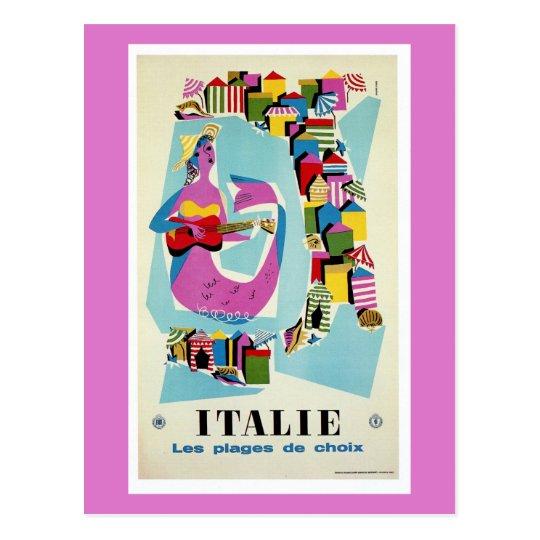 Retro vintage Italy Italian travel advertising Postcard