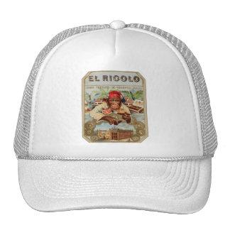 Retro Vintage Kitsch 30s Cigar El Ricolo Chimp Trucker Hat