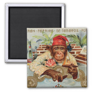 Retro Vintage Kitsch 30s Cigar El Ricolo Chimp Refrigerator Magnet