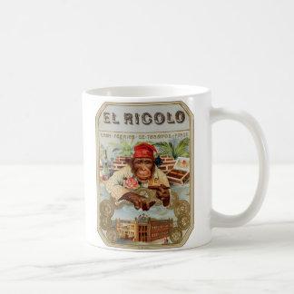 Retro Vintage Kitsch 30s Cigar El Ricolo Chimp Classic White Coffee Mug