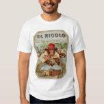Retro Vintage Kitsch 30s Cigar El Ricolo Chimp T-shirts