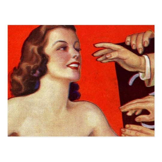Retro Vintage Kitsch 30s Surreal Grab Hands Postcard