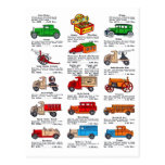 Retro Vintage Kitsch 30s Toy Catalogue Cars & Truc Postcard