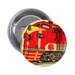 Retro Vintage Kitsch 30s Train Matchbook Art 6 Cm Round Badge
