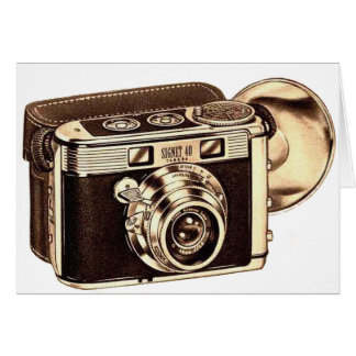 Retro Vintage Kitsch 50s 35mm Camera Greeting Card