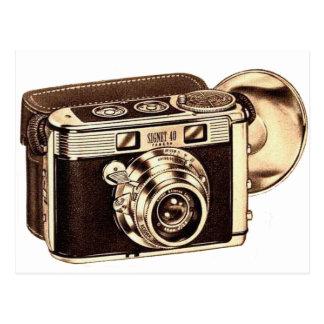 Retro Vintage Kitsch 50s 35mm Camera Postcard