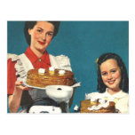 Retro Vintage Kitsch 50s Cookbook Homemaker Post Cards