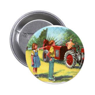 Retro Vintage Kitsch 50s Farm Kids Pesticide Spray Pin