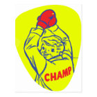 Retro Vintage Kitsch 50s Junior Boxing Champ Art Postcard