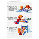 Retro Vintage Kitsch 50s Kids Recipe Cooking Tips Card
