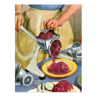 Retro Vintage Kitsch 50s Suburbs Meat Grinder Postcard