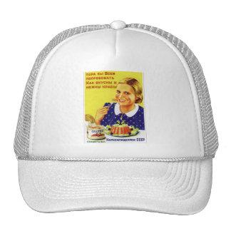 Retro Vintage Kitsch 50s USSR Soviet Chatka Crab Trucker Hat