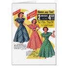 Retro Vintage Kitsch 50s Woman Dresses Fashion Ad