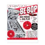 Retro Vintage Kitsch 60s Be-bop Pinball Machine Ad Postcard