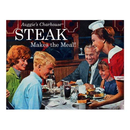 Retro Vintage Kitsch 60s Beef Steak Dinner Ad