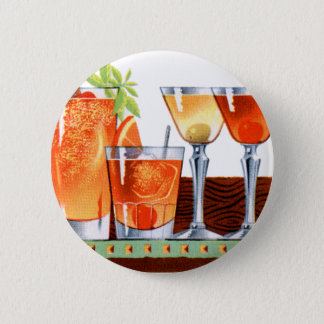 Retro Vintage Kitsch 60s Cocktails Drinks Martinis 6 Cm Round Badge